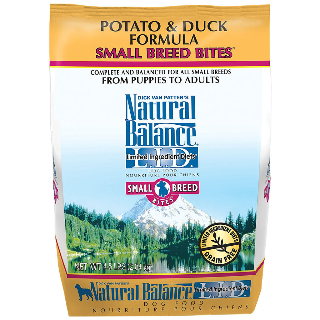NATURAL BALANCE DOG LIMITED INGREDIENT DIET DUCK & POTATO SMALL BREED 4.5LBS