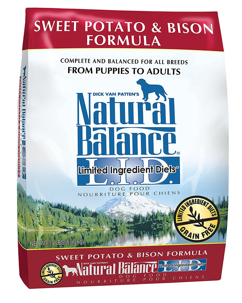 NATURAL BALANCE DOG LIMITED INGREDIENT DIET BISON & SWEET POTATO 13LBS