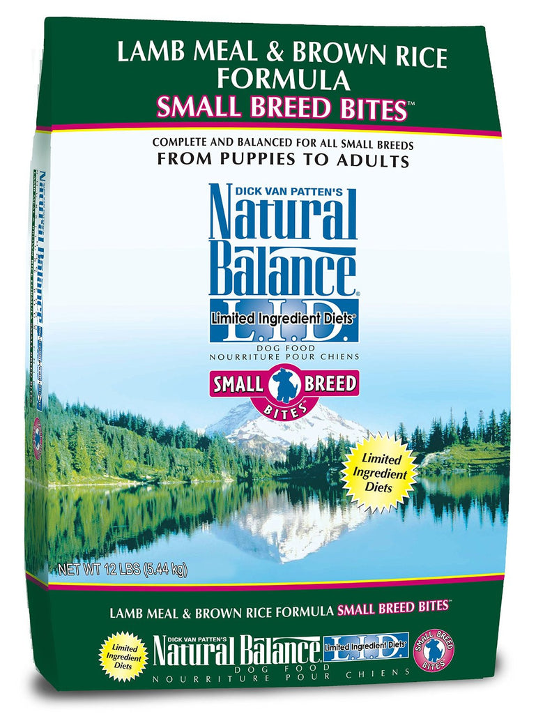 NATURAL BALANCE DOG LIMITED INGREDIENT DIET LAMB & BROWN RICE SMALL BREED 12LBS