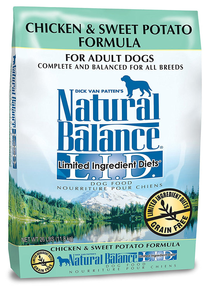 NATURAL BALANCE DOG LIMITED INGREDIENT DIET CHICKEN & SWEET POTATO 26LBS
