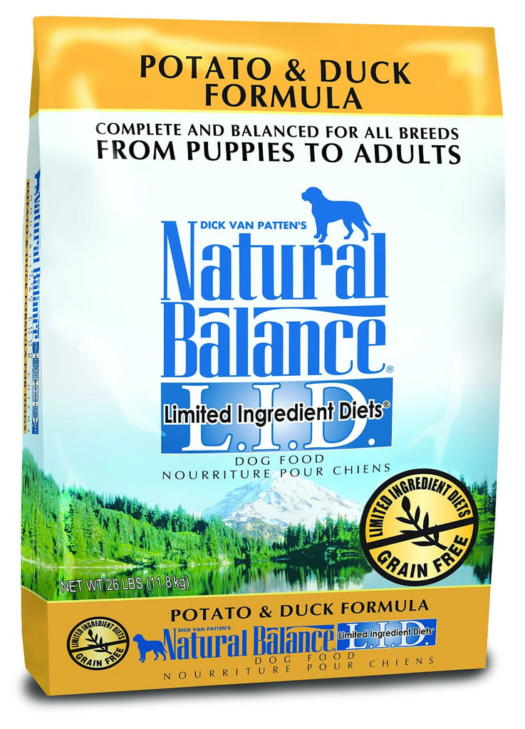 NATURAL BALANCE DOG LIMITED INGREDIENT DIET DUCK & POTATO 26LBS