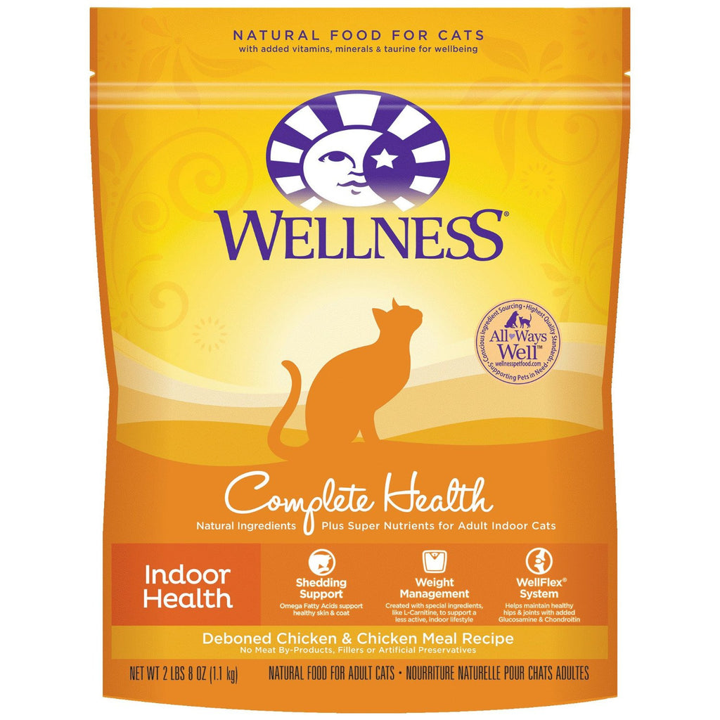 WELLNESS CAT COMPLETE HEALTH INDOOR HEALTH ADULT DEBONED CHICKEN & CHICKEN MEAL RECIPE 2.8LBS