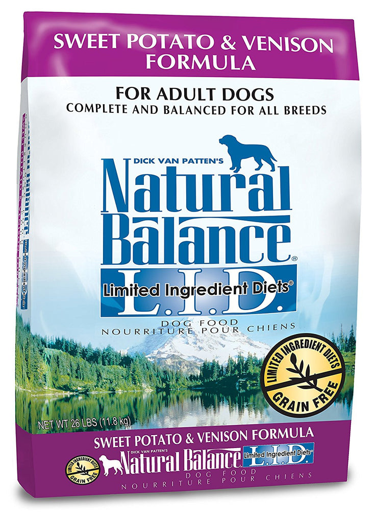 NATURAL BALANCE DOG LIMITED INGREDIENT DIET VENISON & SWEET POTATO 26LBS