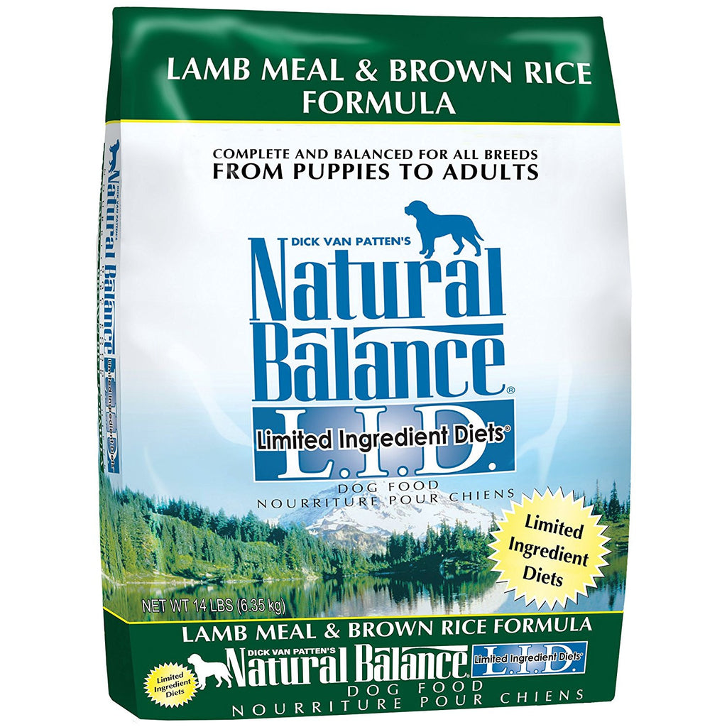 NATURAL BALANCE DOG LIMITED INGREDIENT DIET LAMB & BROWN RICE 14LBS
