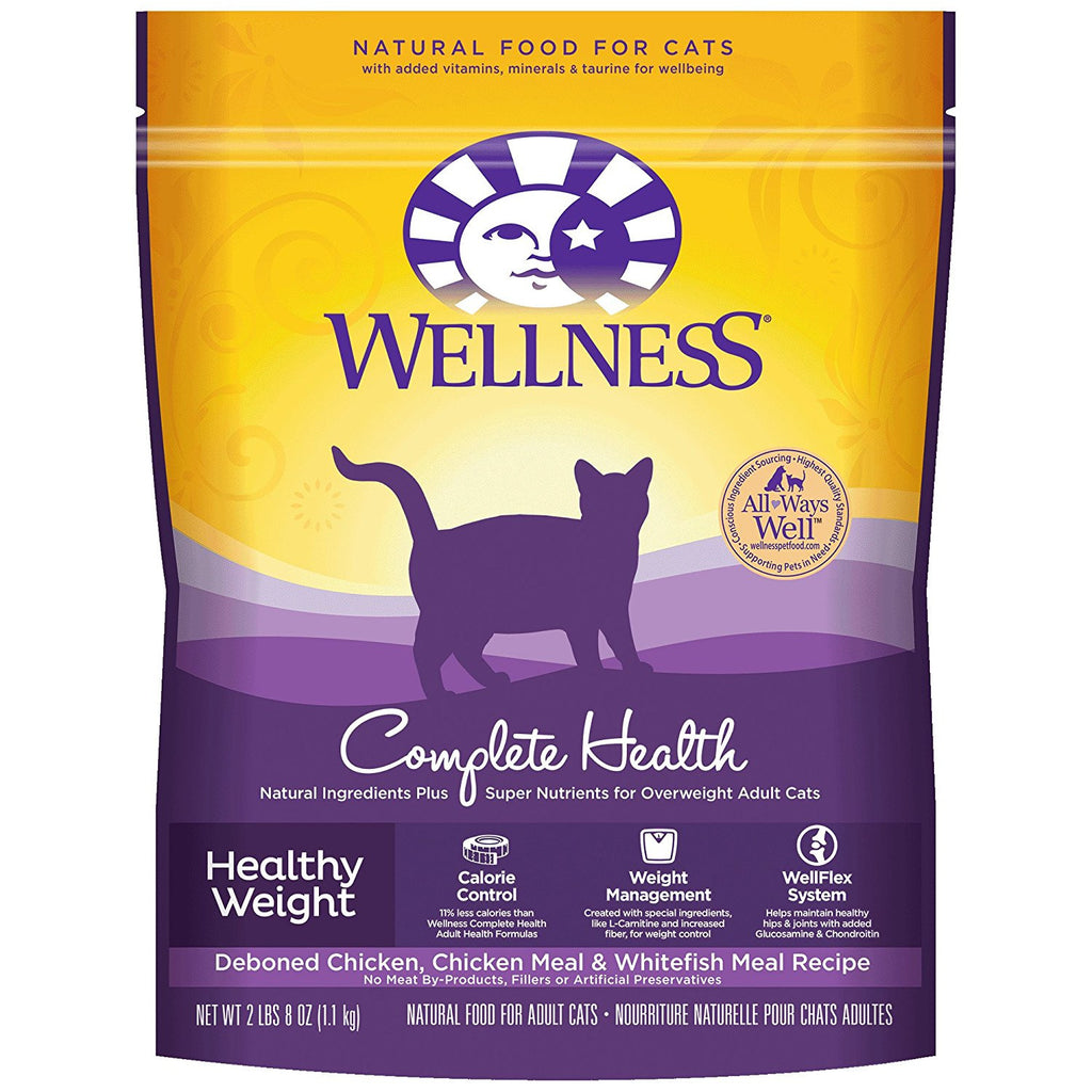 WELLNESS CAT HEALTHY WEIGHT DEBONED CHICKEN, CHICKEN MEAL & WHITEFISH 2LBS