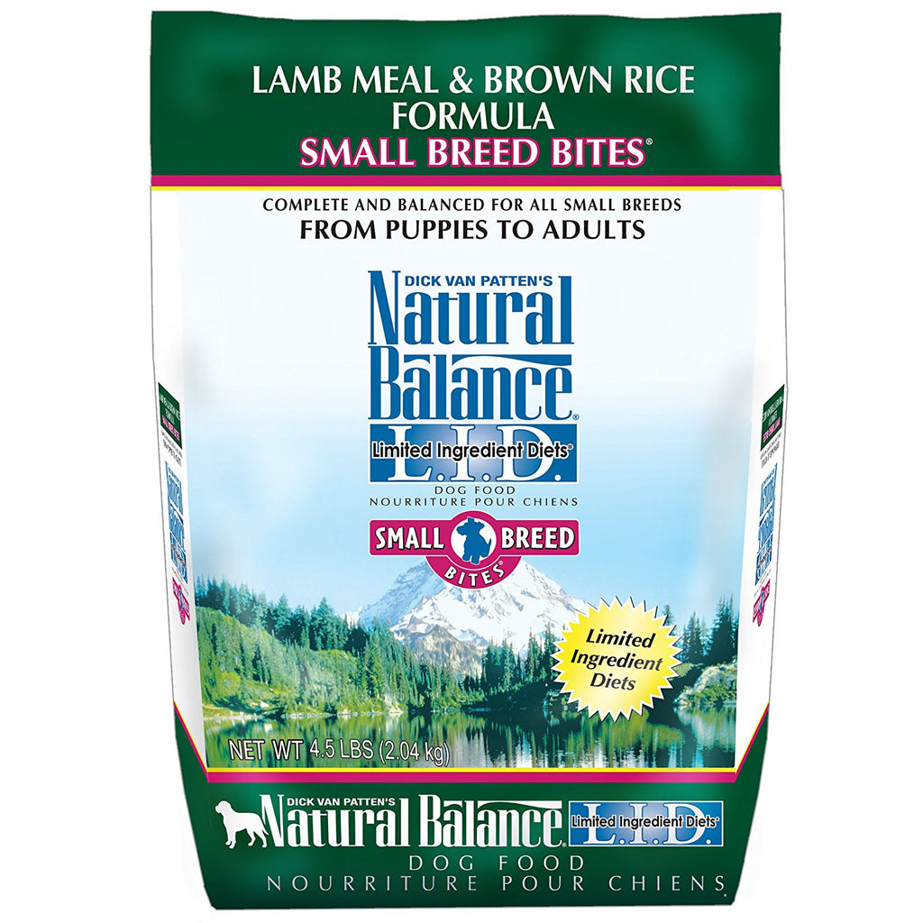NATURAL BALANCE DOG LIMITED INGREDIENT DIET LAMB & BROWN RICE SMALL BREED 4.5LBS