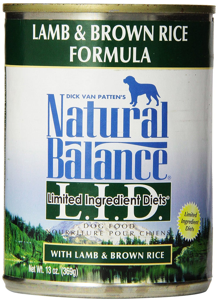 NATURAL BALANCE DOG LIMITED INGREDIENT DIET LAMB & BROWN RICE 13OZ