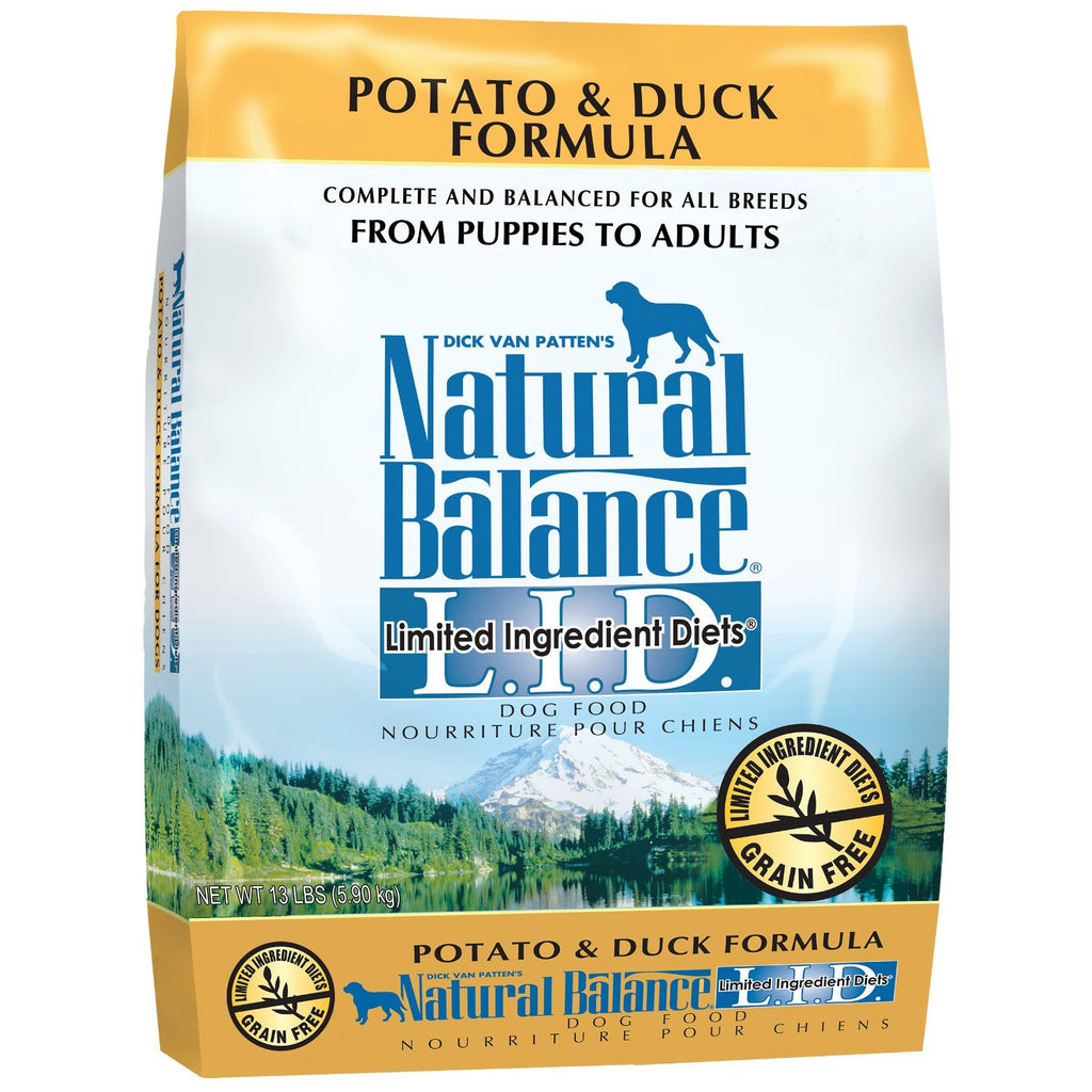 NATURAL BALANCE DOG LIMITED INGREDIENT DIET DUCK & POTATO 13LBS