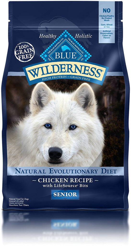 BLUE BUFFALO DOG WILDERNESS SENIOR CHICKEN 4.5LBS