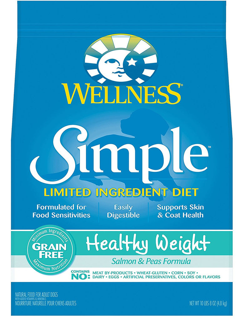 WELLNESS DOG SIMPLE LIMITED INGREDIENT HEALTHY WEIGHT SALMON & PEAS 10LBS