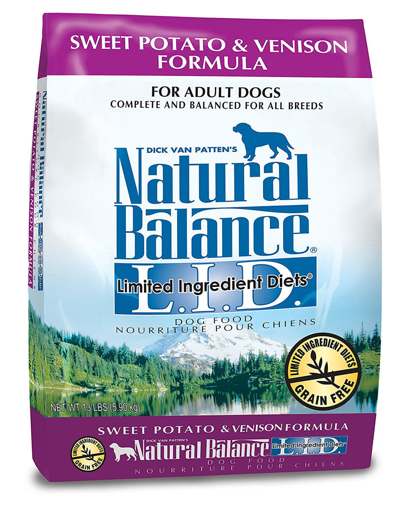 NATURAL BALANCE DOG LIMITED INGREDIENT DIET VENISON & SWEET POTATO 13LBS