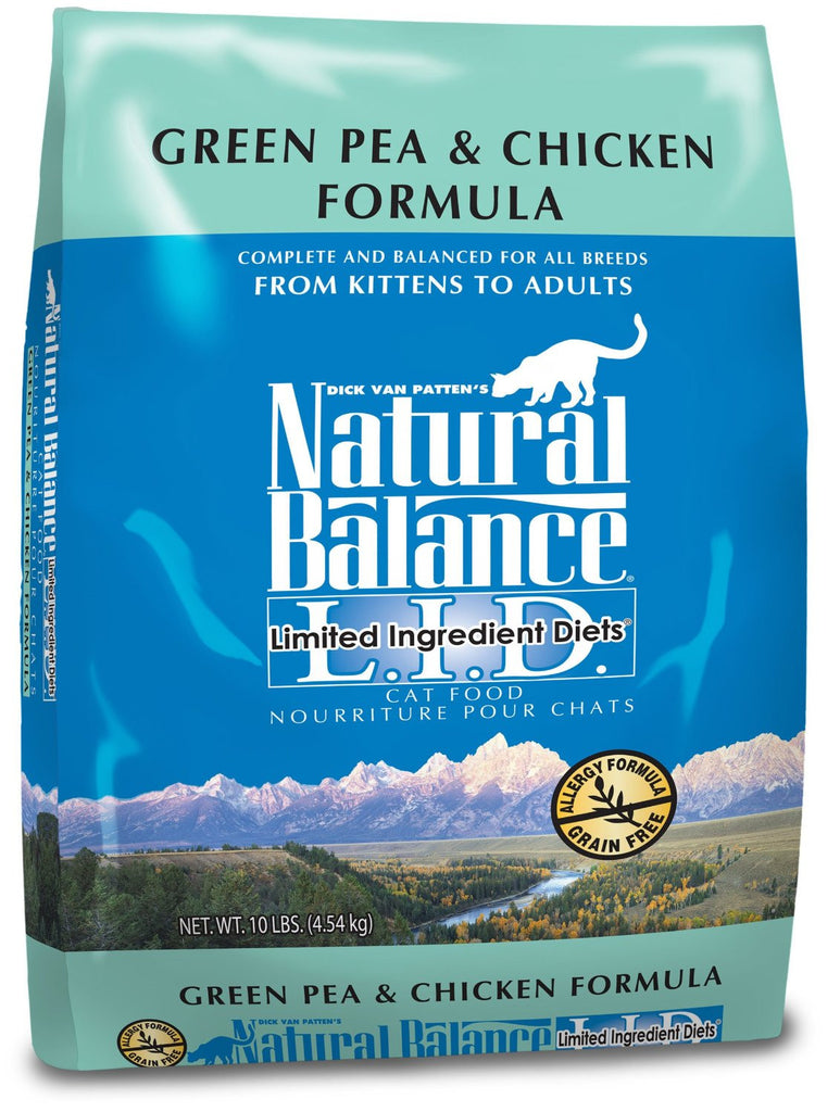 NATURAL BALANCE CAT LIMITED INGREDIENT DIET GREEN PEA & CHICKEN FORMULA 10LBS