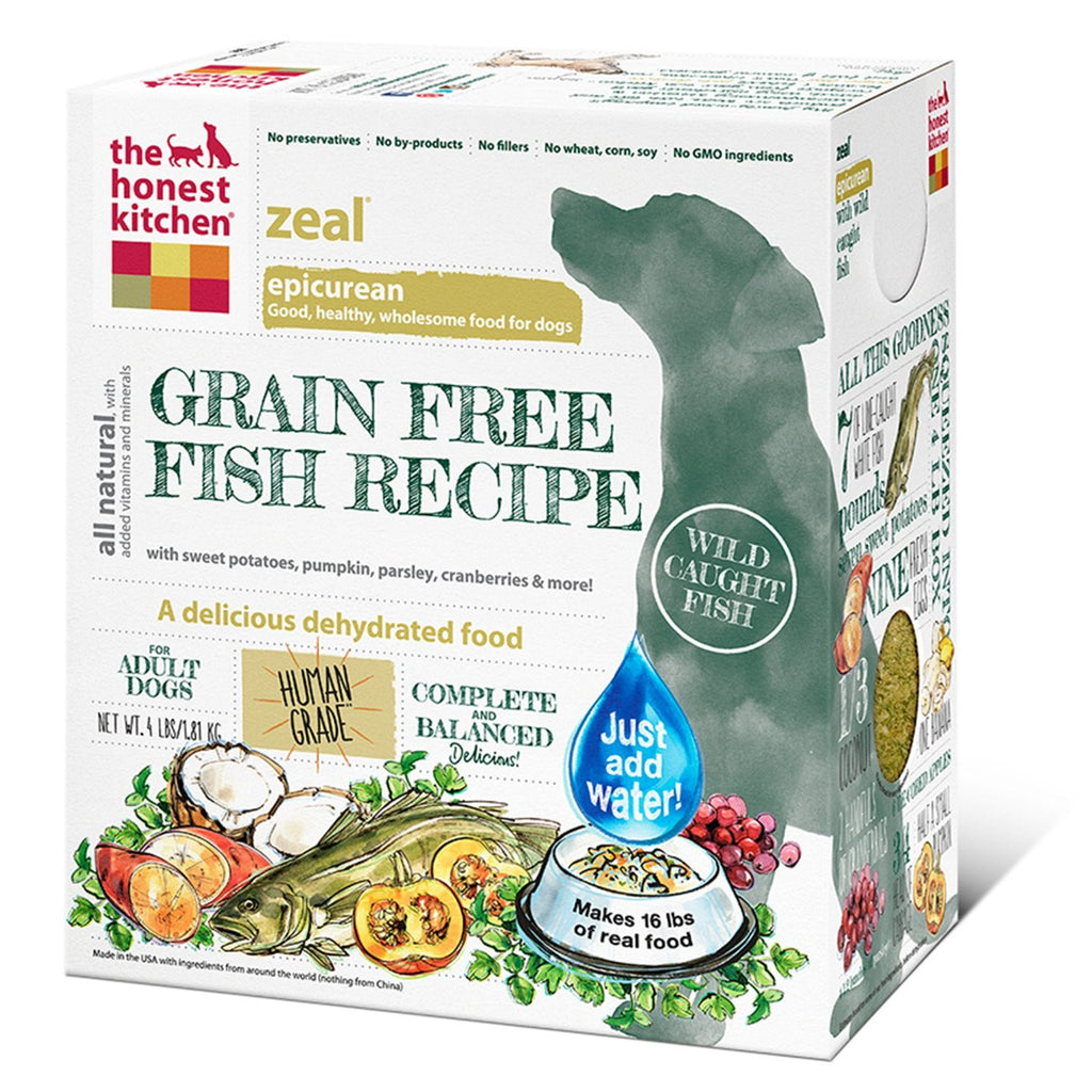THE HONEST KITCHEN ZEAL GRAIN FREE FISH RECIPE 4LBS