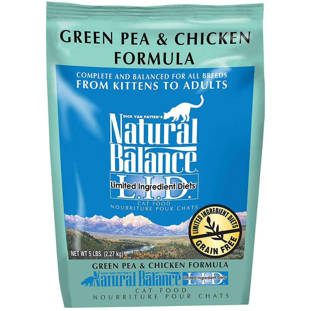 NATURAL BALANCE CAT LIMITED INGREDIENT DIET GREEN PEA & CHICKEN 5LBS