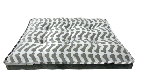 ARLEE ROVER REST BELLA MATTRESS ZIGZAG BONE CHARCOAL BED 45X36