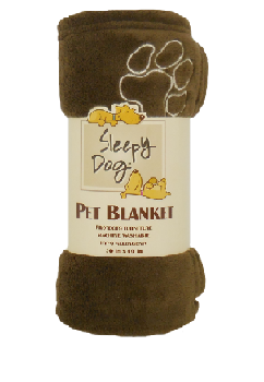 ARLEE SLEEPY DOG BLANKET BROWN 30X40