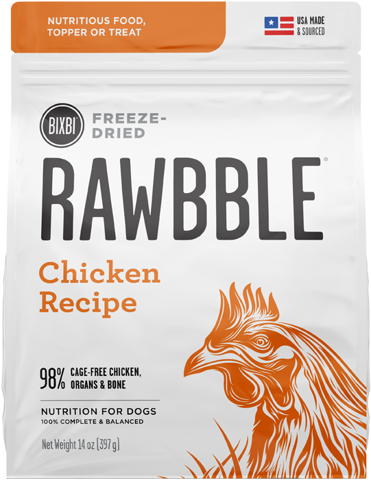 BIXBI RAWBBLE DOG DRIED CHICKEN 14OZ