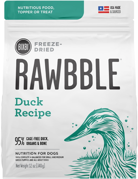 BIXBI RAWBBLE DOG DRIED DUCK 12OZ