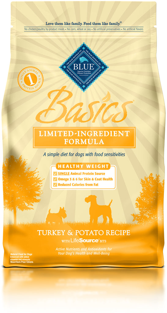 BLUE BUFFALO DOG BASICS HEALTHY WEIGHT TURKEY & POTATO 4LBS