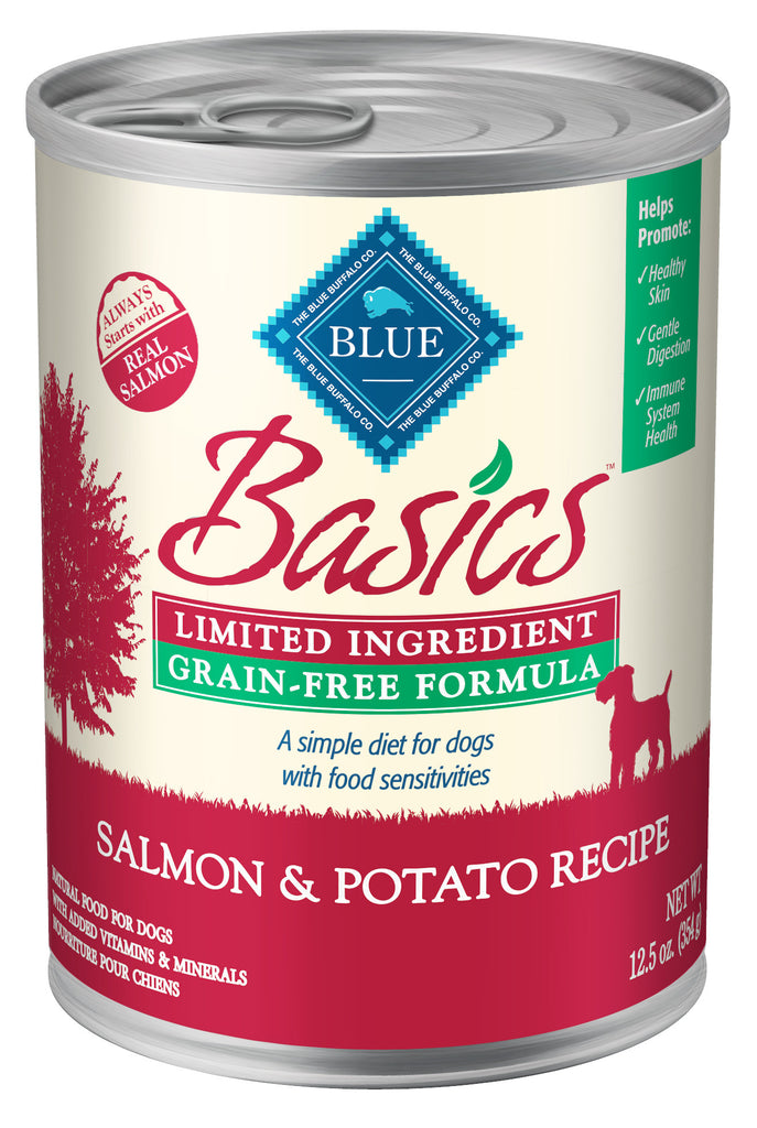 BLUE BUFFALO DOG BASICS SALMON & POTATO RECIPE 12.5OZ