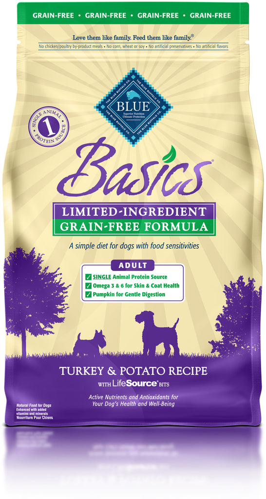 BLUE BUFFALO DOG BASICS TURKEY 4LBS