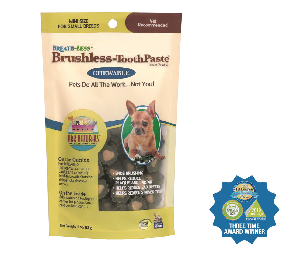 Ark Naturals Breath-Less Chewable Brushless-Toothpaste, Mini 4oz