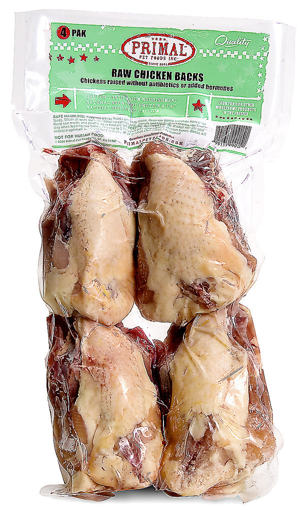 PRIMAL FROZEN CHICKEN BACKS 4PK