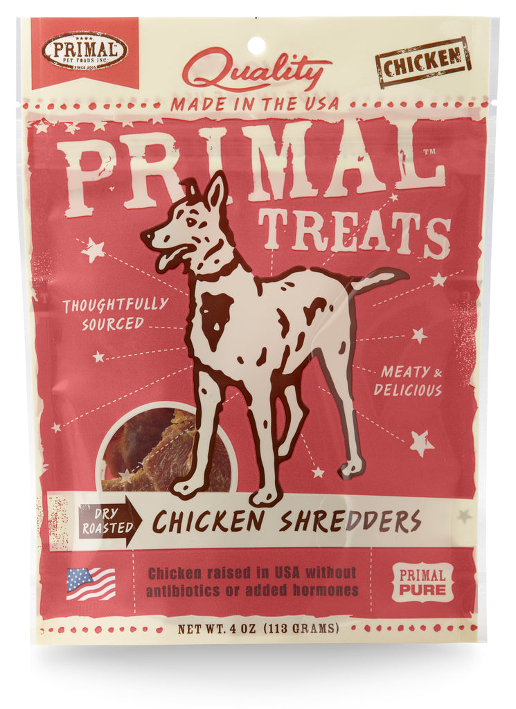 PRIMAL CHICKEN SHREDS 4OZ