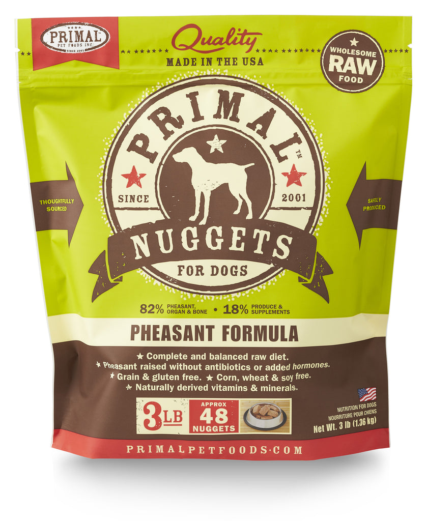 PRIMAL DOG FROZEN NUGGETS PHEAS 3LBS