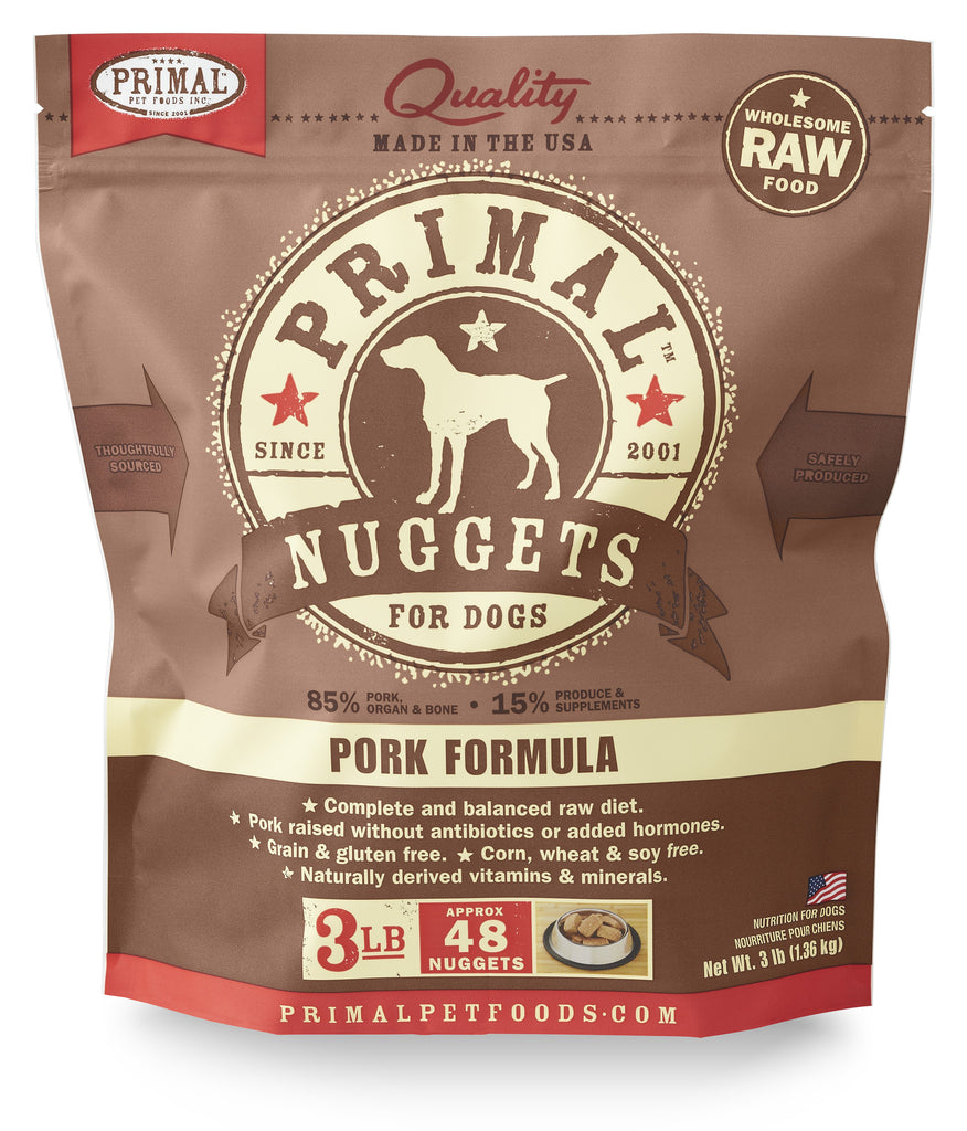 PRIMAL DOG FROZEN NUGGETS PORK 3LBS