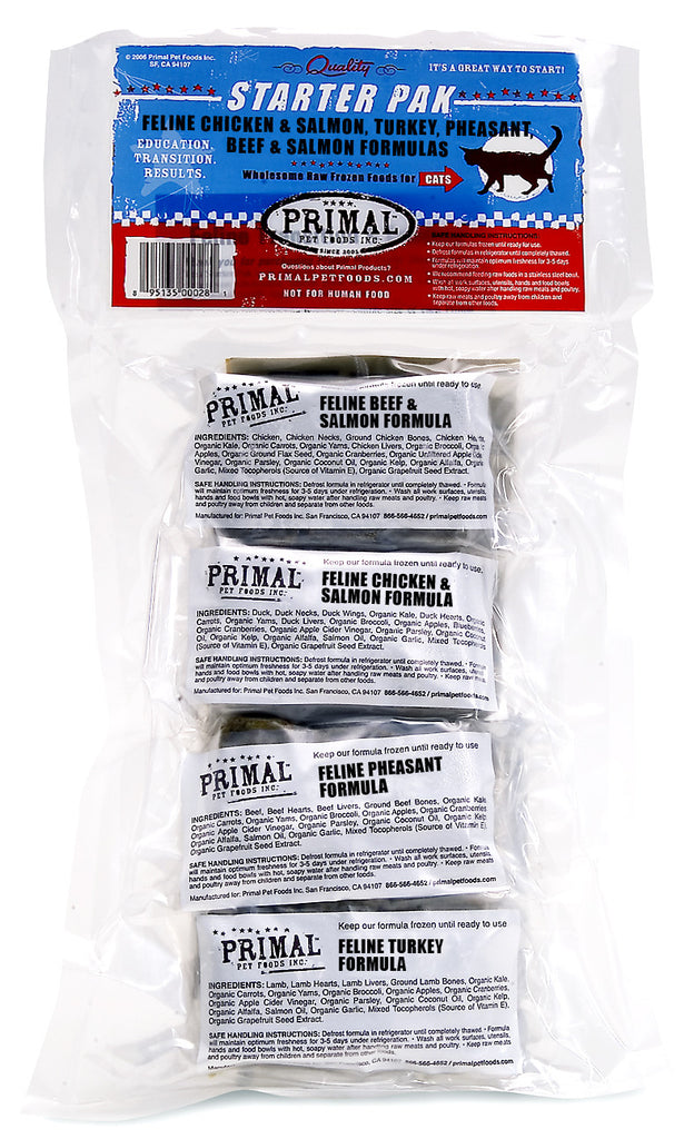 PRIMAL CAT FROZEN STARTER PACK 3OZ