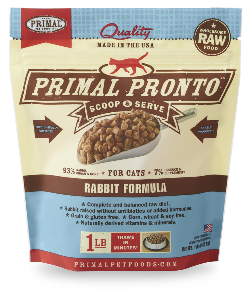 PRIMAL CAT FROZEN PRONTO RABBI 1LBS