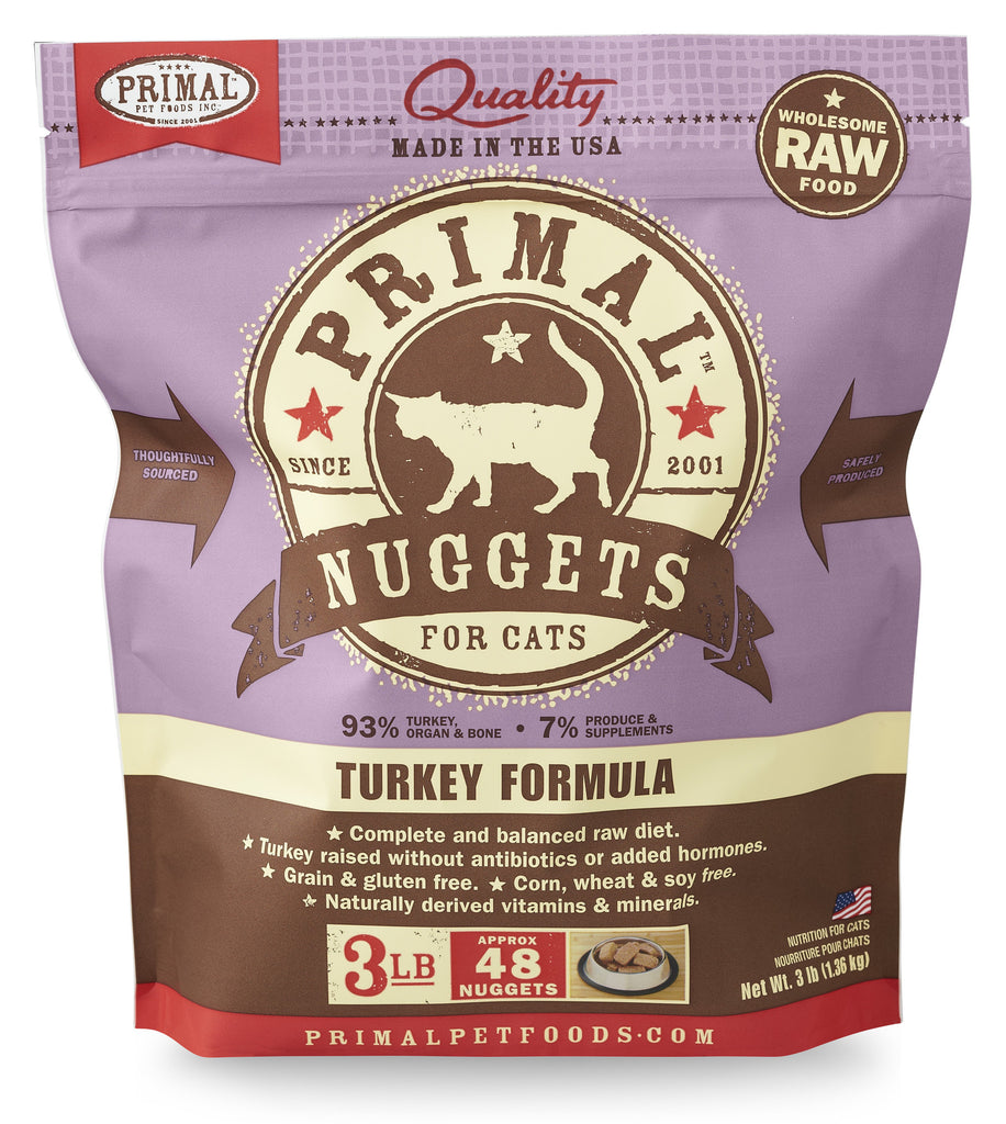PRIMAL CAT FROZEN TURKEY 3LBS