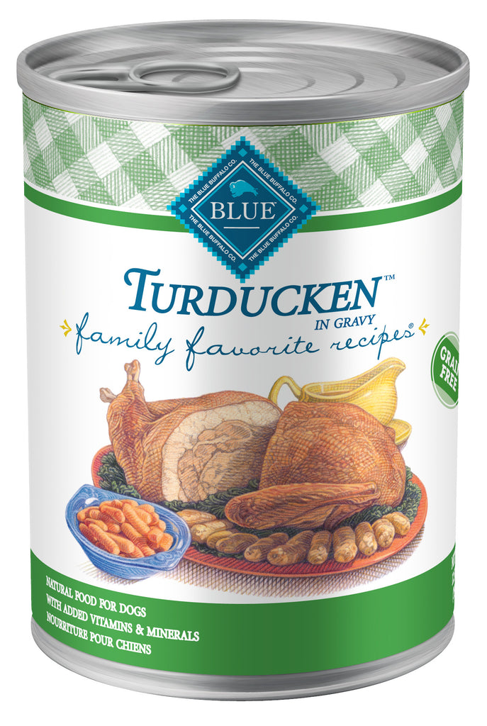 BLUE BUFFALO DOG FAMILY FAVORITE RECIPE TURDUCKEN 12.5OZ