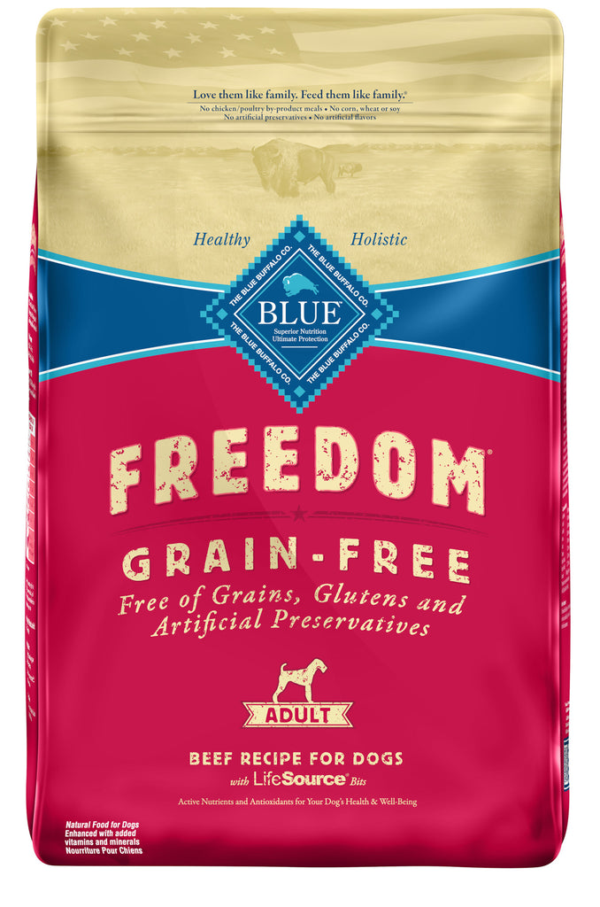BLUE BUFFALO DOG FREEDOM GRAIN FREE BEEF 24LBS