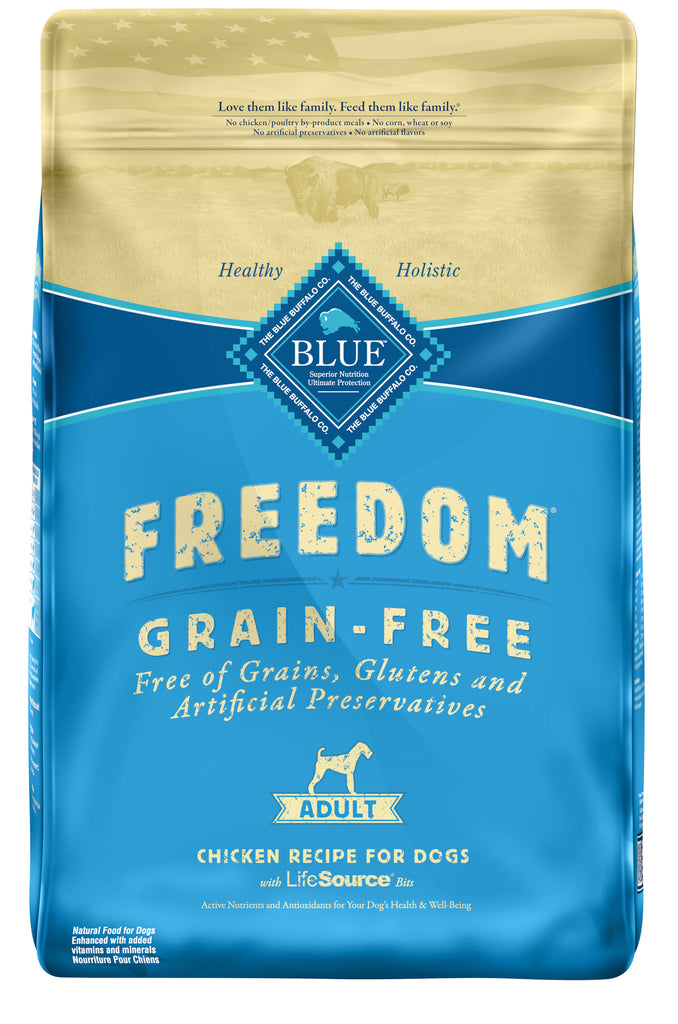 BLUE BUFFALO DOG FREEDOM GRAIN FREE CHICKEN 24LBS