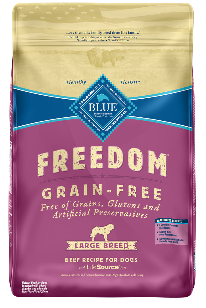 BLUE BUFFALO DOG FREEDOM LARGE BREED GRAIN FREE CHICKEN 24LBS