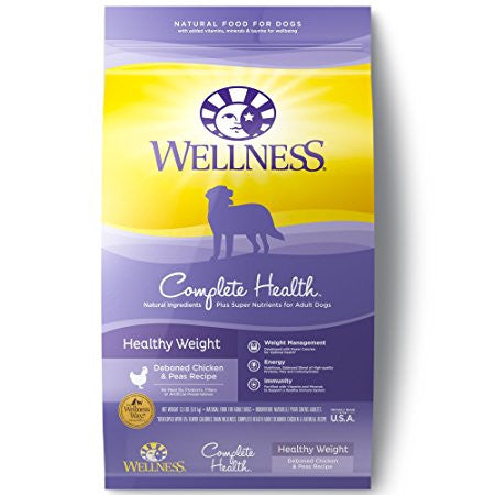 WELLNESS DOG COMPLETE HEALTHY WEIGHT DEBONED CHICKEN & PEAS RECIPE 13LBS