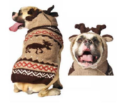 CHILLY DOG SWEATER MOOSEY LARGE
