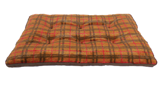 ARLEE ROVER CRATE SLEEPY PAD HUNTER PLAID BROWN 30X22