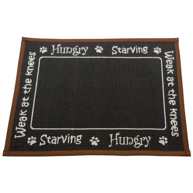ARLEE BOWL MAT HUNGRY CHOCOLATE 13X18