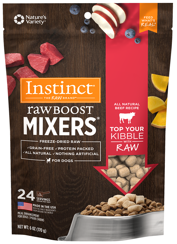 NATURE'S VARIETY INSTINCT RAW BOOST MIXERS BEEF, DOG 6OZ