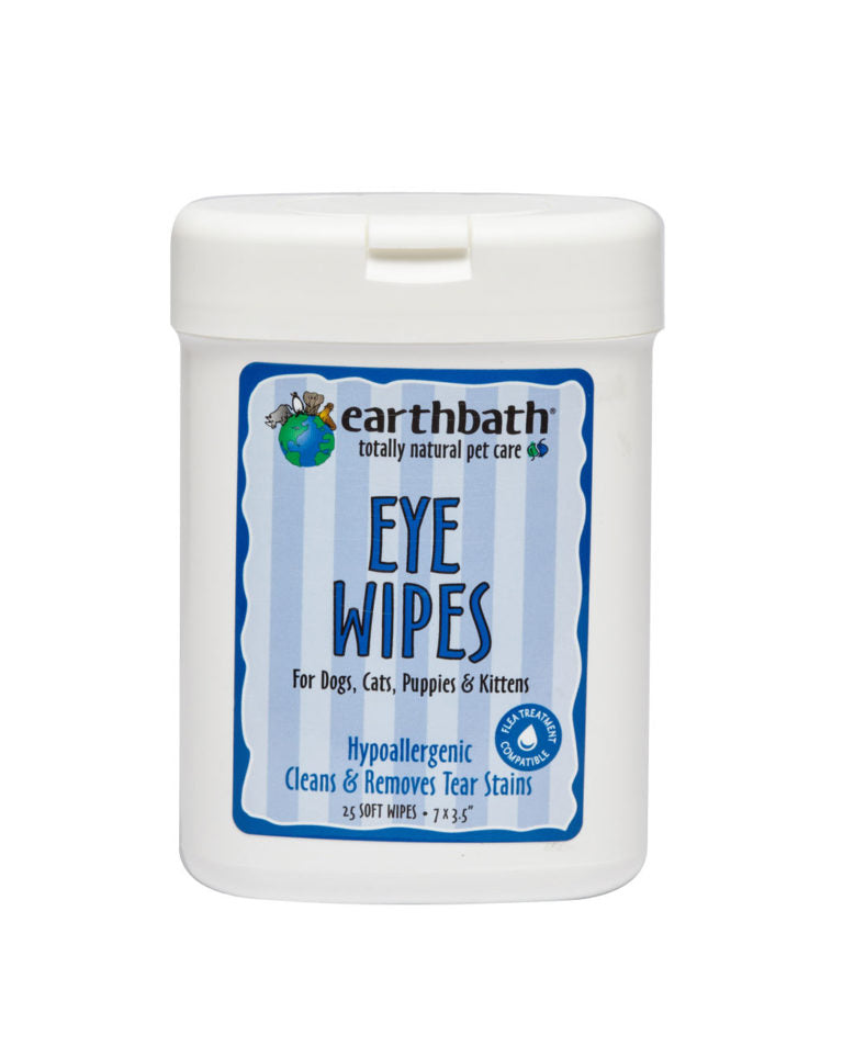 Earthbath Eye Wipes 25pk