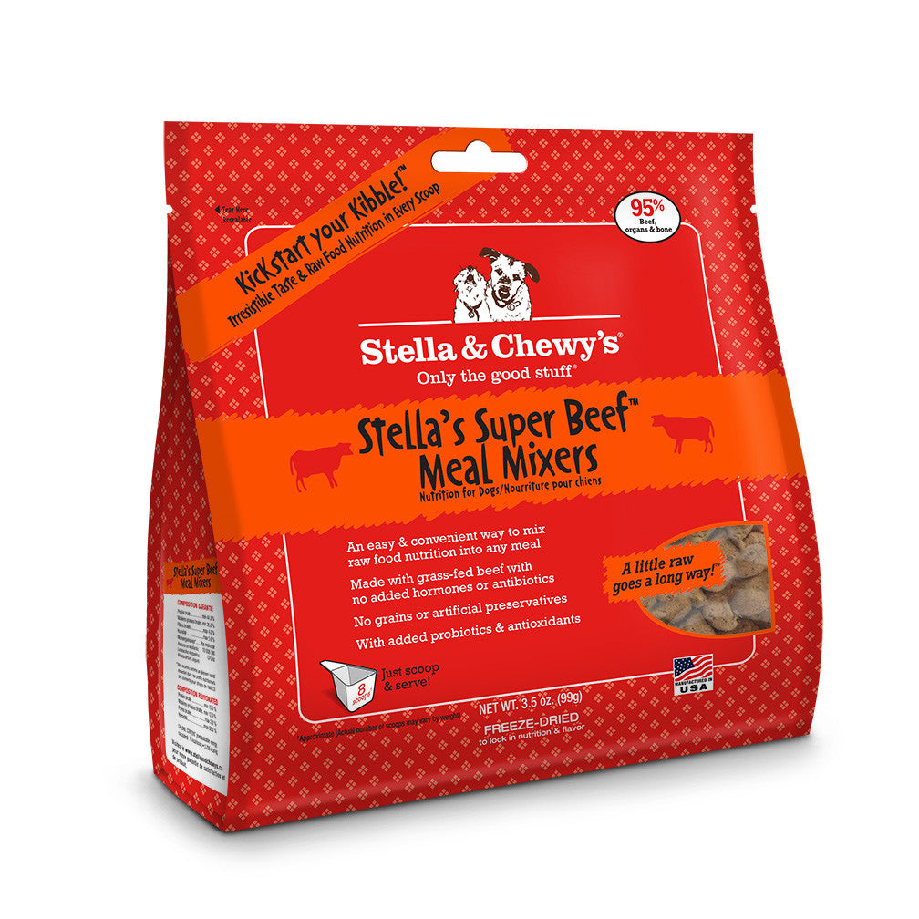 STELLA & CHEWY'S DOG FREEZE DRIED MIXERS BEEF3.5OZ