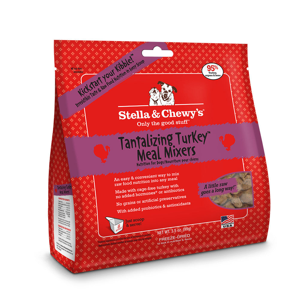 STELLA & CHEWY'S DOG FREEZE DRIED MIXERS TURKEY 3.5OZ