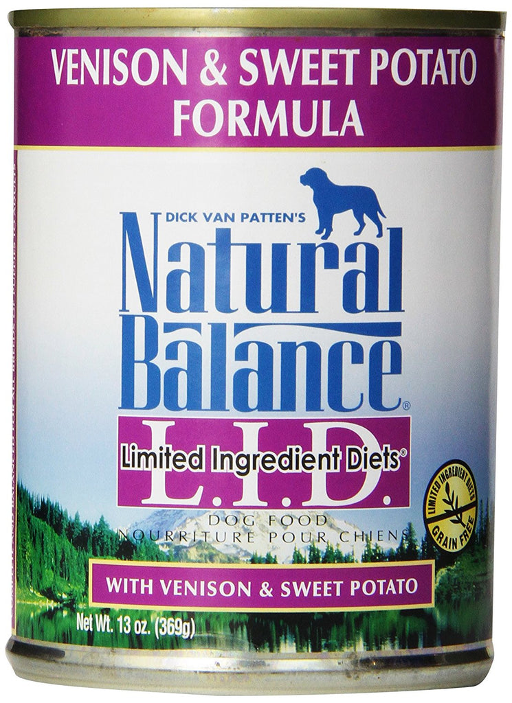NATURAL BALANCE DOG LIMITED INGREDIENT DIET VENISON & SWEET POTATO 13OZ