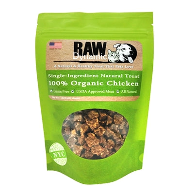 RAW DYNAMIC CHICKEN, DOG TREATS 3.6OZ