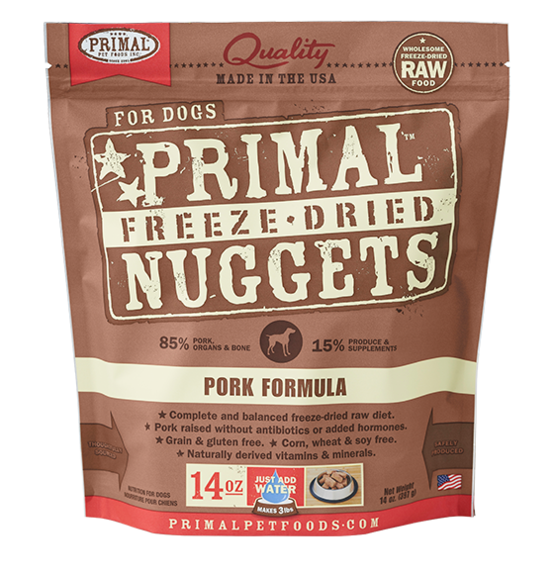 PRIMAL DOG DRIED PORK 5.5OZ