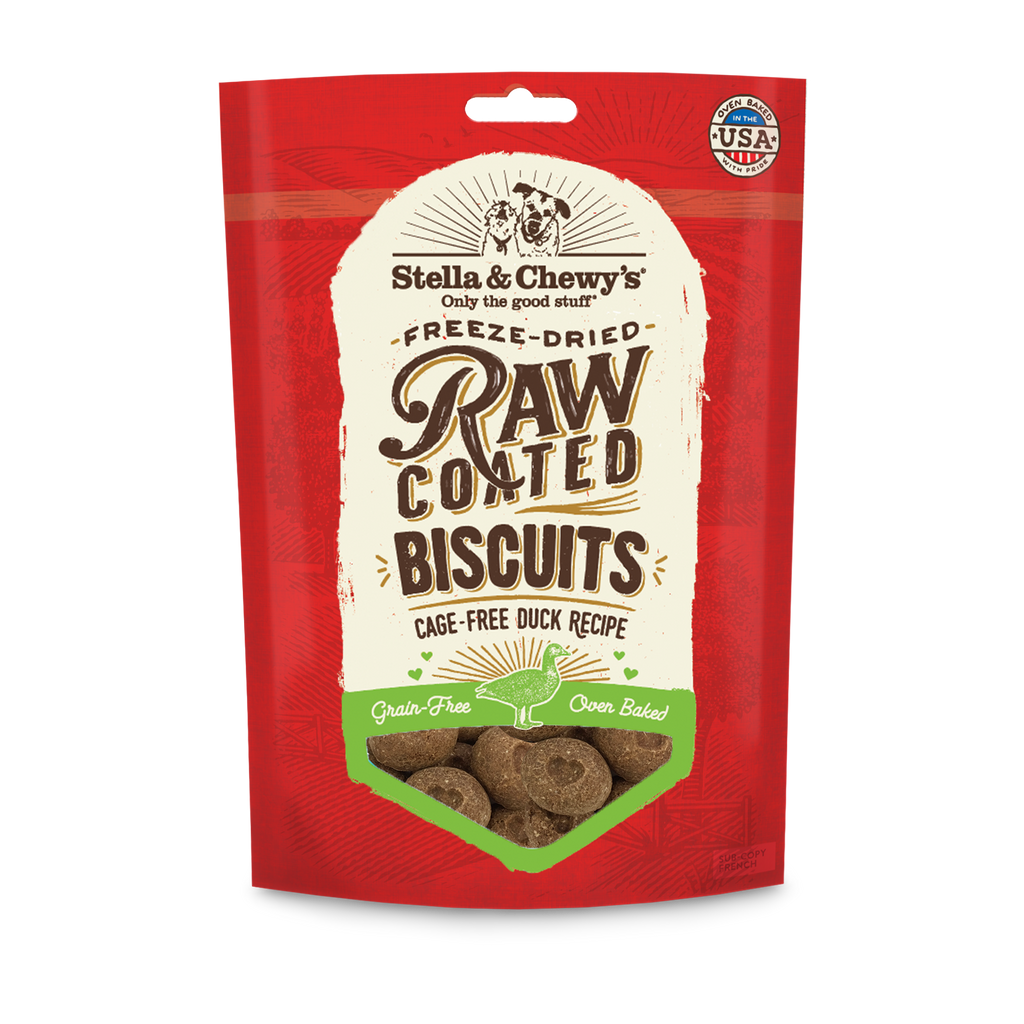 STELLA & CHEWY'S BISCUITS RAW COATED DUCK 9OZ