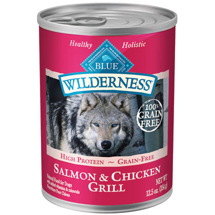 BLUE BUFFALO DOG WILDERNESS SALMON & CHICKEN GRILL 12.5OZ